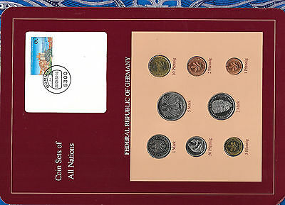 Coin sets of all nations Germany 1986-1988 UNC  5 Mark 1987 2 Mark 1988
