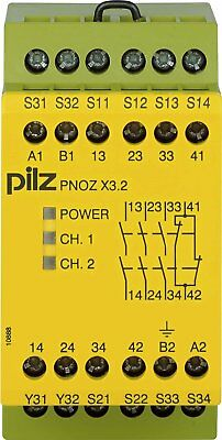 774309 Pilz - PNOZ X3.2 230VAC 24VDC 3n/o 1n/c 1so - Safety relay PNOZ X