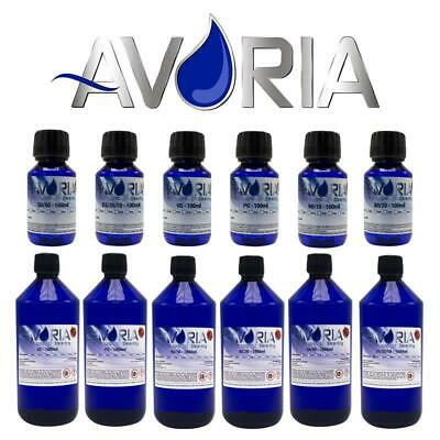 AVORIA Base Liquid Basen 100ml / 1000ml 1 Liter 0mg ohne Nikotin PG VG VPG Basis