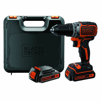 Black+Decker Trapano avvitatore brushless 2 batterie litio 18V l186KB-QW