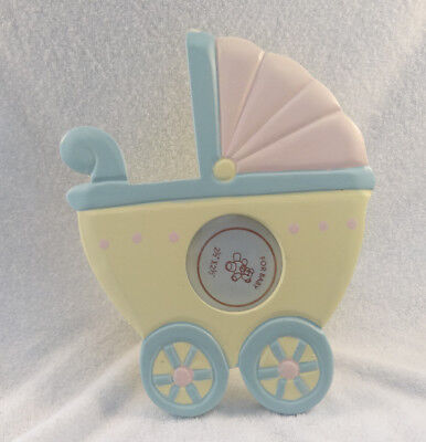 Ret $19 - New with Defect - Baby Carriage Picture Frame - 2 1/2 x 2 1/2 Round