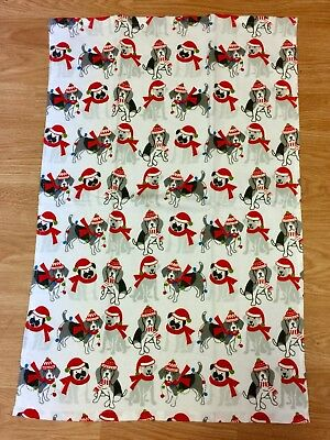 Pug And Friends Dish Towel