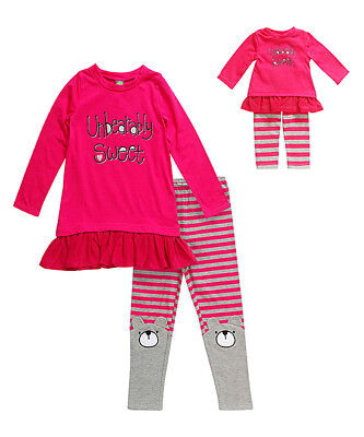 """Dollie Me Sz 10-12 and 18"""" doll matching dress outfit clothes fit american girl"""
