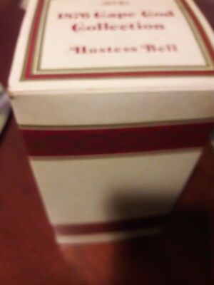 Avon '1876 CAPE COD Collection' Ruby Red Glass Hostess Dinner Bell W/Box