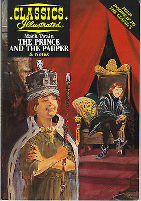 CLASSICS ILLUSTRATED - THE PRINCE AND THE PAUPER - Comic Book & Study Guide