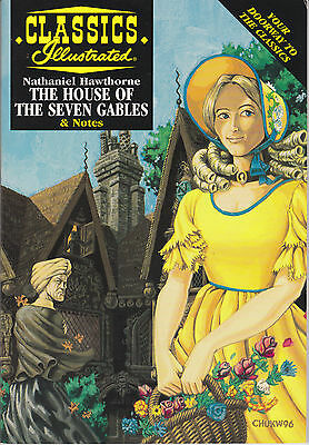 CLASSICS ILLUSTRATED - HOUSE OF THE SEVEN GABLES - Comic Book & Study Guide
