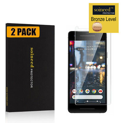 """[2-Pack] SOINEED Google 5.0"""" Pixel 2 Tempered Glass Screen Film Cover Protector"""