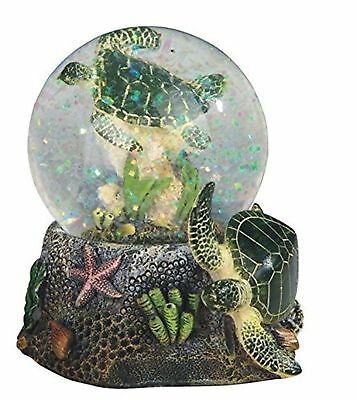StealStreet Marine Life Snow Globe with Sea Turtle Statue Figurine 3.75""