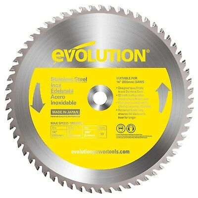 Evolution Power Tools 14BLADESS Stainless Steel Cutting Saw Blade 14-Inch x 9...