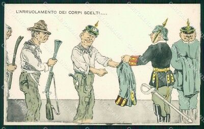 WW1 WWI Propaganda Anti German cartolina postcard XF7947