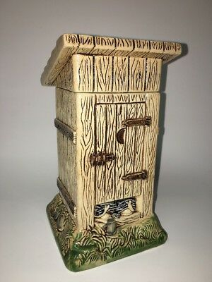 Figural Character Pottery Beer Stein Out House Toilet Wood Crapper Gerz  Germany