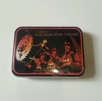 The Nightmare Before Christmas Playing Cards Collectible Disney Tim Burton NECA