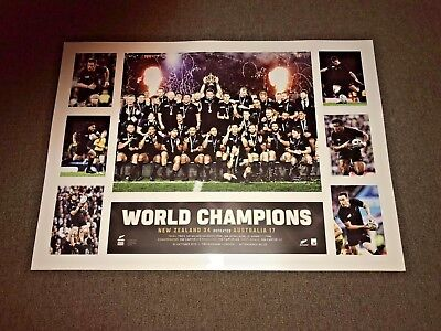 All Blacks New Zealand Rugby 2015 World Cup Champions Limited Edition Print