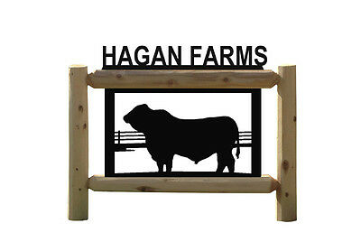 Bulls-Cows-Farm Sign-Farming-Ranch-Country Outdoor Signs