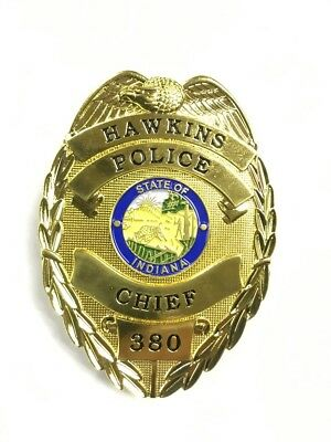 Stranger Thing Hawkins Police Chief 380 Badge Prop