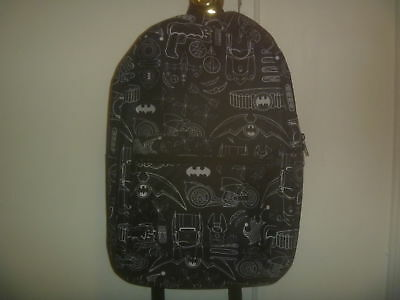 DC Comics Black & White Batman Icon Print Backpack Bookbag Bio World Brand New