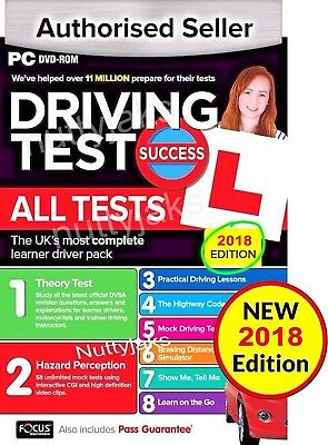 2017/2018 Driving Theory Test  All Tests & Hazard Perception PC DVD  NEW 2018
