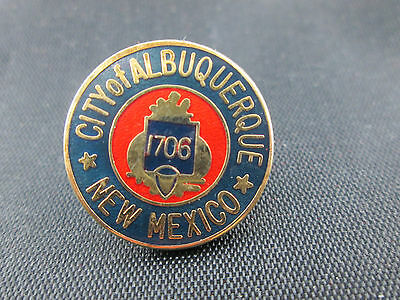 CITY OF ALBUQUERQUE NEW MEXICO Founded in 1706 Lapel Hat Pin Metal Enamel NIP