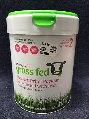 Munchkin Grass Fed Toddler Drink Powder 1.6 lbs 25.75 oz 1-3 Years - Ships Today