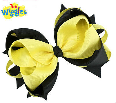 Emma The Wiggles Hair Bow Black and Yellow Bumblebee Costume Accessory