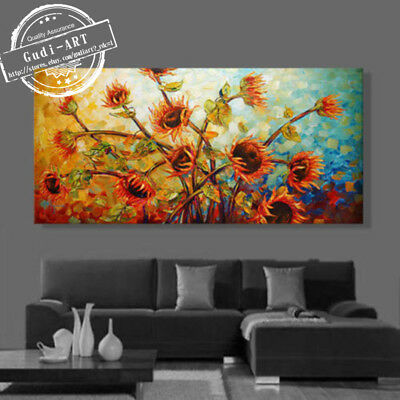 GUDI-Oil Painting Hand-Painted Home Modern Abstract Deco Canvas Art Wall Flowers