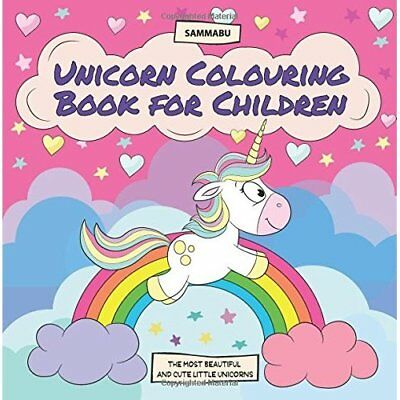 Unicorn Colouring Book for Children Kids Arts Craft Drawing NEW Paperback Book