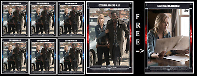 Topps The Walking Dead Card Trader FEAR 310 Madison & Victor Red & Blue Digital