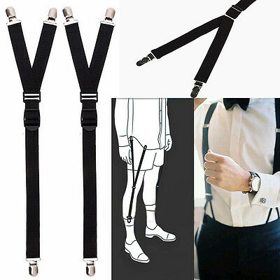 2pcs  Military Luxury Y Style Shirt Holders Uniform Shirt Stay Keeper Garter POP