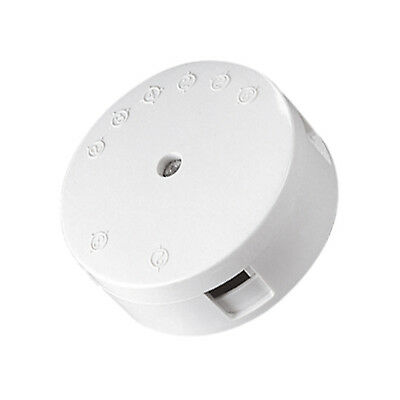 ROUND JUNCTION  BOX CONNECTOR 5A 4 TERMINAL 230V or LOW 12V 24V WHITE 5 AMP