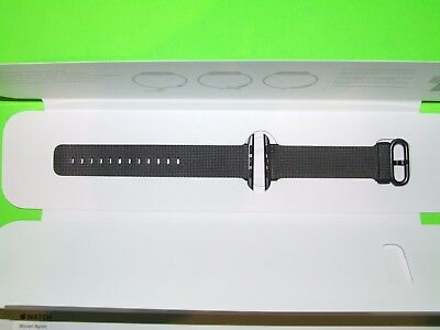Genuine Apple - Woven Nylon for Apple Watch 42mm - Black ! Open Box !  MM9Y2AM/A