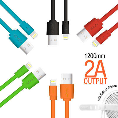 CRAZY Flat USB Cable for iPhone 6 7 8 Plus X 5 iPad Mini Data Sync Charger Cord