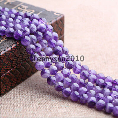 Grade AAA Natural Lavender Amethyst Gemstone Round Beads 15.5'' 4mm 6mm 8mm 10mm