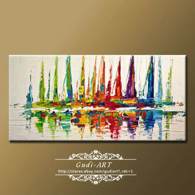 GUDI-Oil Painting Large Wall Hand-Painted Home Modern Abstract Decor Canvas Art