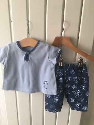 Baby Girl's Clothes Newborn - 2pc Outfit - Cute Flower Top & Trousers