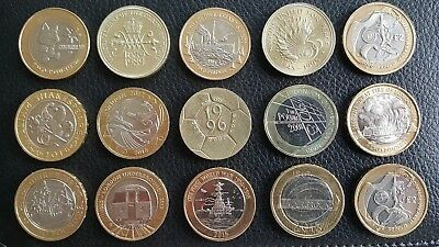 **cheapest Collectable Rare Uk Coin Hunt 2 Two Pound Coins - Free Uk P&p**