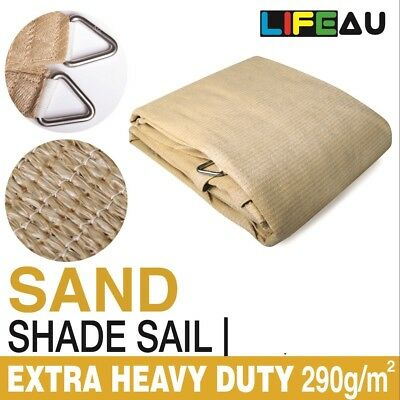 Extra Heavy Duty SAND Shade Sail 290gsm Rectangle Square Triangle