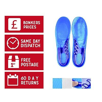 Orthotic Gel Insoles Shoe Inserts Arch Support Massaging Pads Feet Work Boots