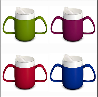 Drinking Aid Mobility Disability Elderly Parkinsons Non Spill Mug Cup Beaker NEW