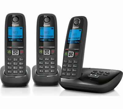 GIGASET AL415A Cordless Phone with Answering Machine - Triple Handsets - Currys