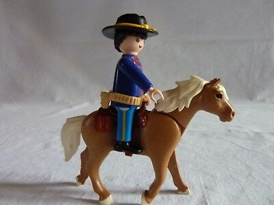 PLAYMOBIL @@ WESTERN @@ CHEVAL PAIRE EPERONS NOIRS @@ COW BOY INDIEN FAR WEST