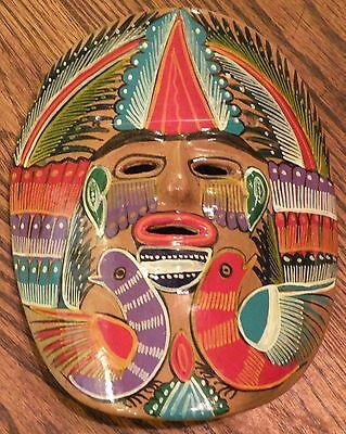Collectible Hand Painted Pottery Mask - MEXICAN FOLK ART - Mexico - Home Decor