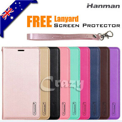 Samsung Galaxy A5 2017 A8 J8 2018 Luxury Hanman Wallet Leather Flip Case Cover