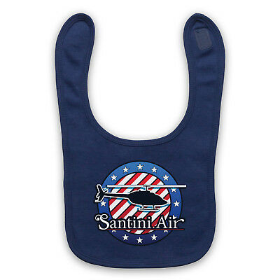 80's Tv Show Airwolf Santini Air Unofficial Logo Retro Baby Bib Cute Baby Gift