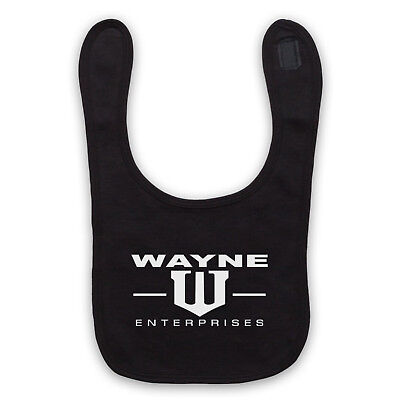 Batman Unofficial Bruce Wayne Enterprises Comic Logo Baby Bib Cute Baby Gift