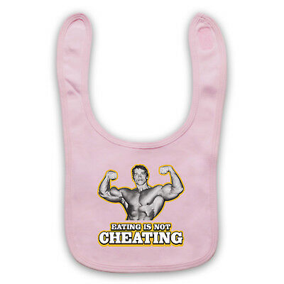 Arnold Schwarzenegger Eating Unofficial Not Cheating Baby Bib Cute Baby Gift