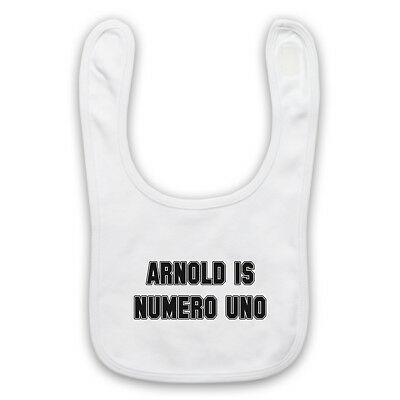 Arnold Is Numero Uno Pumping Iron Unofficial Gym Slogan Baby Bib Cute Baby Gift