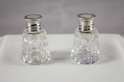 Antique Sterling Silver Mother of Pearl Hallmarked Slat & Pepper Shakers 1929