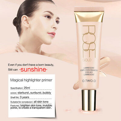 Rose Gold Liquid Highlighter Makeup Shimmer  Face Foundation Women Comestic sell
