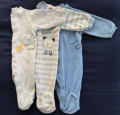 3 Piece Lot of Carter's Infant/Baby 9 Months Footie Pajamas