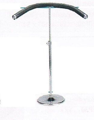Store Display Fixtures FLEXIBLE HANGER ON CHROME ADJUSTABLE STAND
